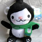 2010 Vancouver mascotte olympique, Miga l'ourse des mers, peluche hauteur 31 cm