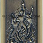 2002 Salt Lake City olympic participant medal recto, bronze - athlets and officials - 90 x 50 mm