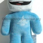 2006 Turin mascotte olympique, Gliz le cube de glace, peluche hauteur 22 cm