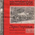 1936 Garmisch-Partenkirchen olympic opening ceremony program