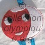 1968 Grenoble olympic mascot Shuss flat tissue, felt made, height 12,5 cm