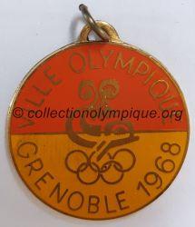 1968 Grenoble médaille commémorative logo culturel, uniface