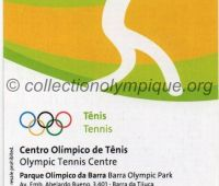 2016 Rio billet d'entrée olympique session tennis du 13 Août