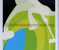 2006 Torino Olympic poster curling 42 x 29,5 cm