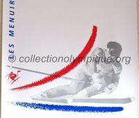1992 Albertville Olympic poster slalom 54 X 80 cm