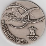 2010 Vancouver médaille olympique participant recto, athlètes - 60 mm