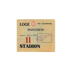 1920 Antwerp olympic ticket