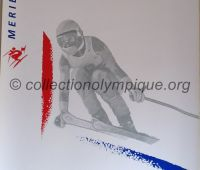 1992 Albertville Olympic poster Downhill skiing ladies 54 X 80 cm