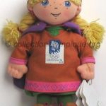 1994 Lillehammer mascotte olympique, Kristin la princesse, peluche hauteur 19 cm