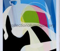 2006 Torino Olympic Poster snowboard 42 x 29,5 cm