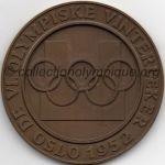 1952 Oslo médaille olympique participant recto