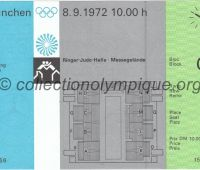 1972 Munich billet d'entrée olympique lutte entier