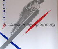 1992 Albertville Olympic poster ski jumping 54 X 80 cm