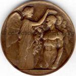 1924 Paris médaille olympique participant recto, bronze - athlètes et officiels - 55 mm - 9 500 ex. - designer Raoul BENARD