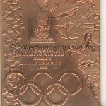 1994 Lillehammer médaille olympique participant recto, cuivre - athlètes et officiels - 76 x 66 mm - 20 000 ex. - designer Morten KLEPPAN