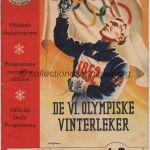 1952 Oslo programme olympique cérémonie ouverture 14-15/02/1952 13,3 x 18,6 cm