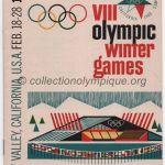 1960 Squaw Valley programme olympique n°1 cérémonie ouverture 18/02/1960 12,4 x 17,9 cm