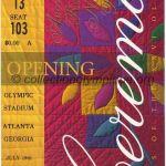 1996 Atlanta olympic ticket opening ceremony recto