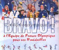 2002 Salt Lake City Olympic poster frenchTeam Bravo 80 x 120 cm