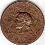 1968 Grenoble olympic bronze participant medal recto, athlets - 68 mm - designer J.M. COEFFIN
