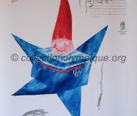 1992 Albertville olympic poster mascot Magic 56 X 76 cm