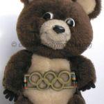 1980 Moscou mascotte olympique, l'ours Misha, peluche hauteur 20 cm