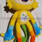2016 Rio mascotte olympique, Vinicius, peluche hauteur 35 cm