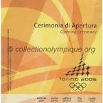 2006 Torino olympic ticket opening ceremony recto