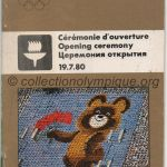1980 Moscow olympic opening ceremony program