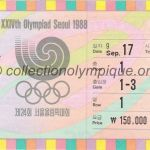 1988 Seoul olympic ticket opening ceremony recto