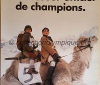 1992 Albertville Olympic advertising poster sponsor Candia 60 X 80 cm