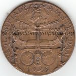 1928 Amsterdam médaille olympique de participant recto, bronze - athlètes - 55 mm - 5901 ex. - designer Johannes Cornelis WIENECKE