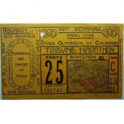 1924 Paris olympic opening ceremony ticket