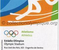 2016 Rio billet d'entrée olympique session athlétisme du 15 Août