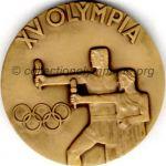 1952 Helsinki médaille olympique de participant recto, bronze - athlètes et officiels - 54 mm - 14 000 ex. - designer Kauko RÄSÄNEN