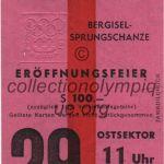 1964 Innsbruck billet olympique cérémonie ouverture recto