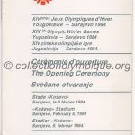1984 Sarajevo olympic opening ceremony program 02/08/1984 20,5 x 10,3 cm
