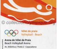 2016 Rio billet d'entrée olympique session beach volley du 7 Août