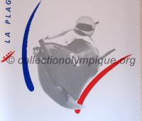 1992 Albertville Olympic poster bobsleigh 54 X 80 cm