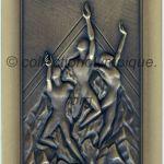 2002 Salt Lake City médaille olympique participant recto, bronze - athlètes et officiels - 90 x 50 mm