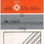 1984 Sarajevo olympique ticket opening ceremony recto