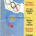 1948 Saint-Moritz programme olympique journalier