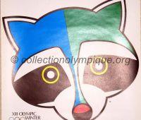 1980 Lake Placid Olympic poster Roni mascot 60.5 x 40 cm