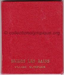 1992 Albertville médaille Brides Les Bains, étui 2