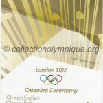 2012 London olympic ticket opening ceremony recto