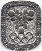 1968 Grenoble médaille en argent, uniface, recto