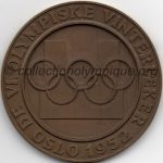 1952 Oslo olympic participant medal recto