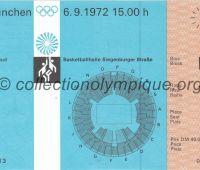 1972 Munich billet d'entrée olympique basketball entier