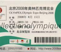 2008 Pékin billet d'entrée olympique à Olympex du 15 Août