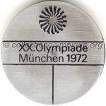 1972 Munich olympic participant medal recto, steel - athlets and officials - 49 mm - 15 000 ex. - designer Fritz KÖNIG